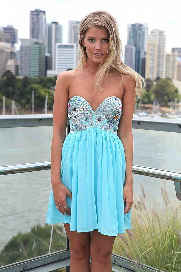 Light Blue Prom Dress Accessories