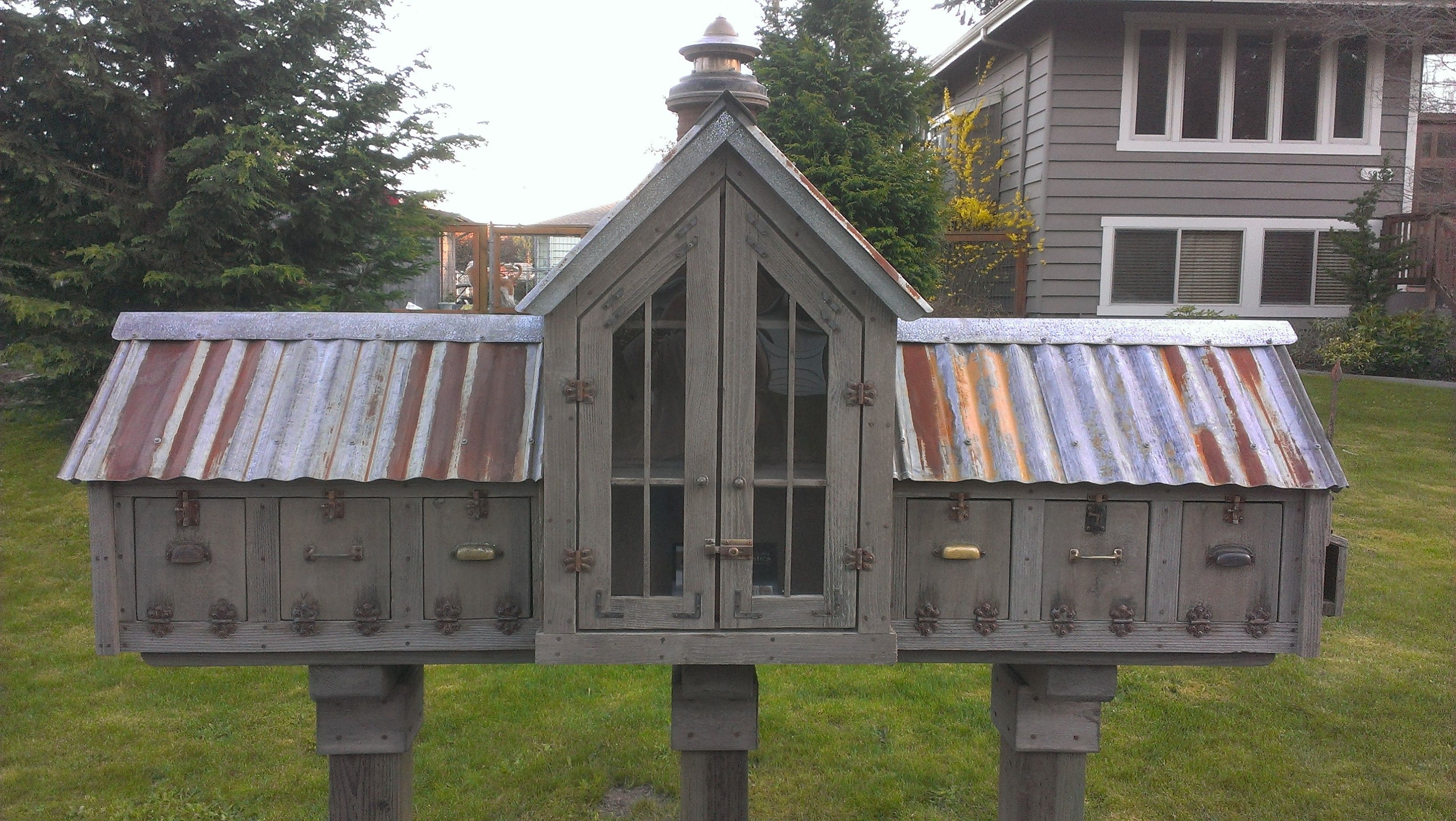 Bob Bowling Rustics Little free libraries, Butterfly