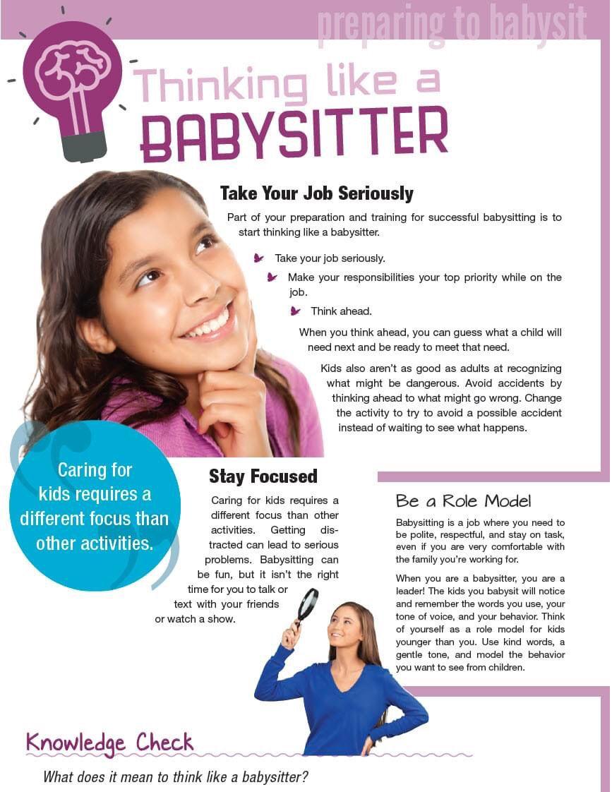 Child and Babysitting Safety in 2020 Babysitting jobs