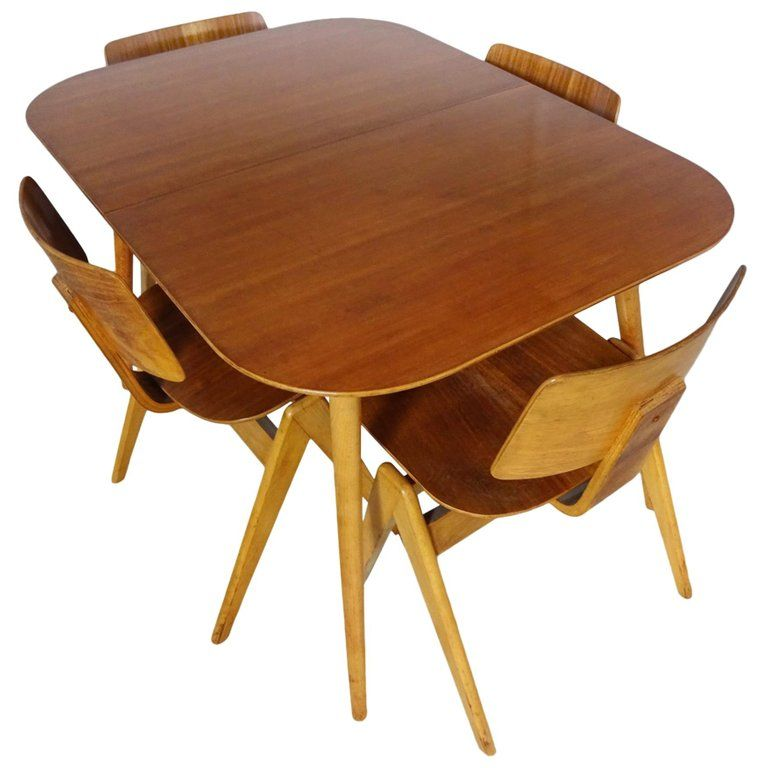 Dining Set Robin Day For Hille Midcentury 1950s Table And 4