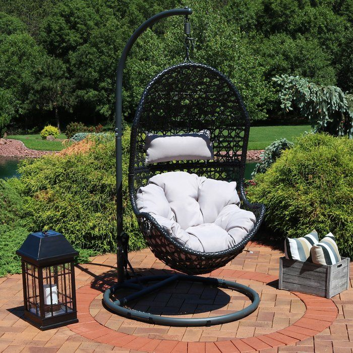 Abrams Hanging Egg Chair Hammock with Stand Hanging egg
