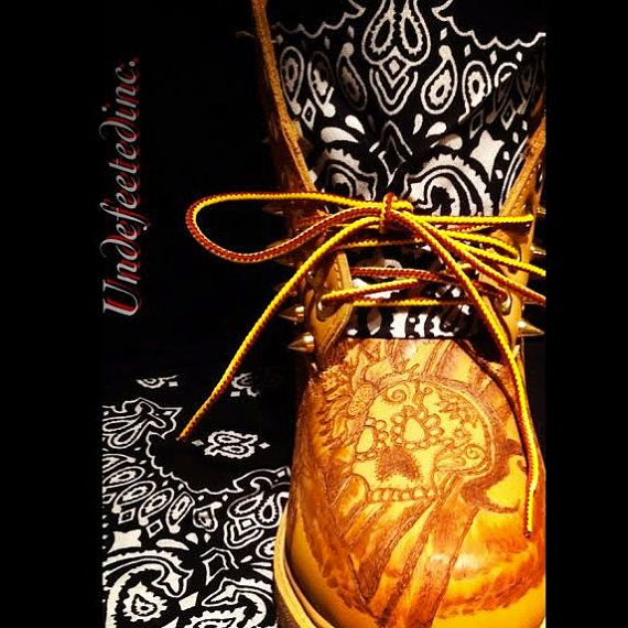 Tattoo Your Timbs by UndeFeeted on Etsy, $219.00
