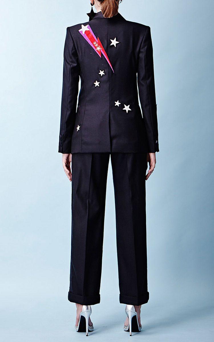 Mick Fitted Tuxedo Jacket by Racil   Moda Operandi