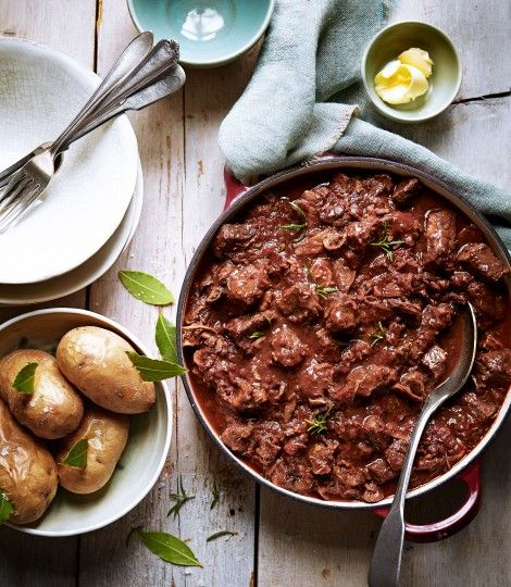 Beef and Porcini Stew with Rosemary and Tomato