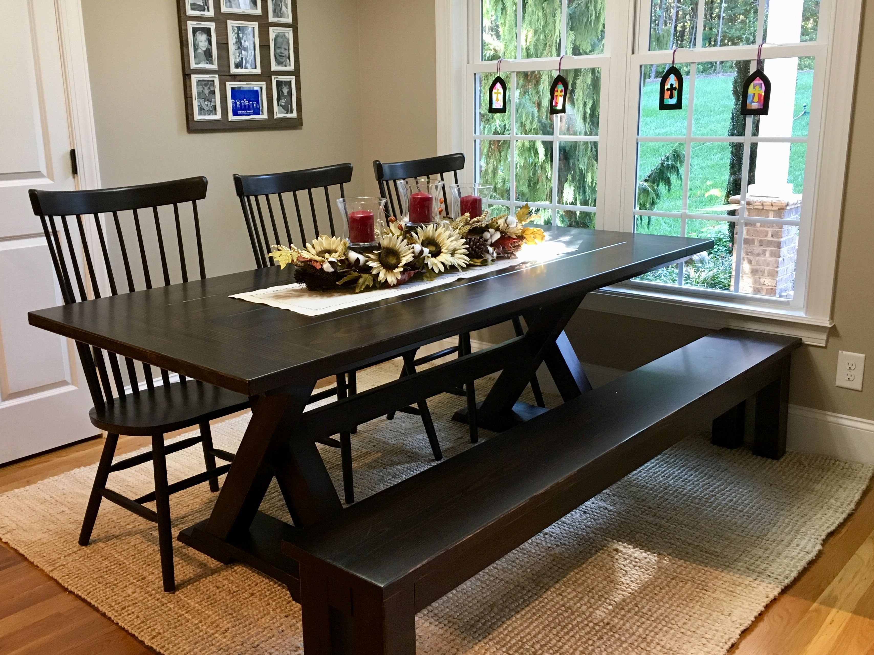 This Gorgeous Trestle Table Is Customized In Kona Stain With A