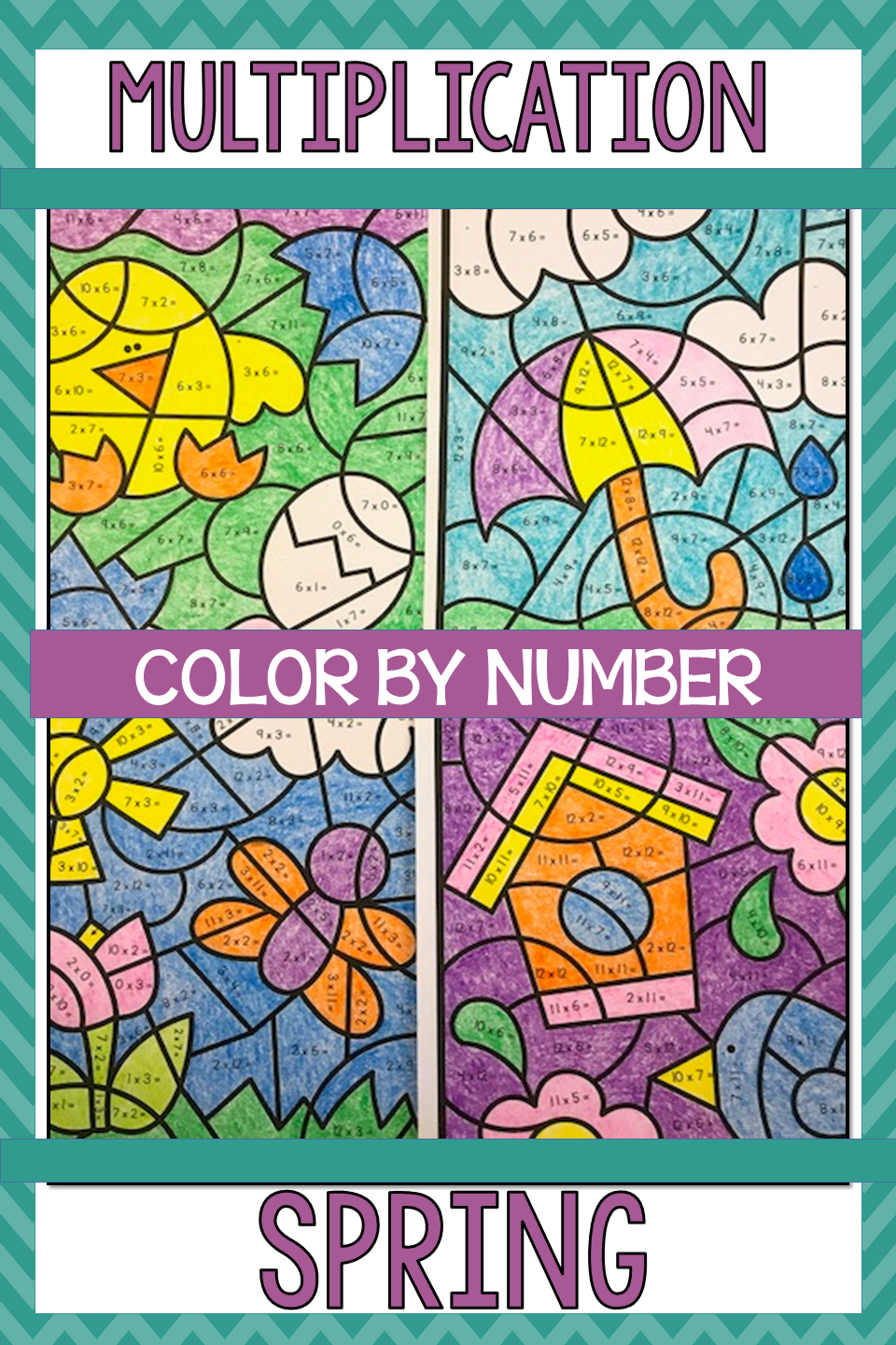 Spring Coloring Pages Multiplication Color By Number Spring Math Activities Spring Math Multiplication [ 1440 x 960 Pixel ]
