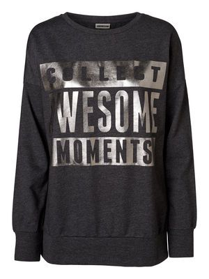 MICHAEL AWESOME L/S SWEAT MIX - NM, Dark Grey Melange, main