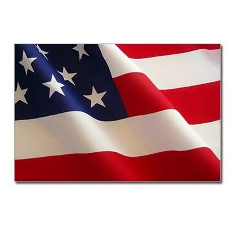 CafePress USA Flag package of 8 postcards