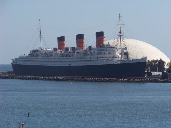 Queen Mary in Long Beach, CA-stayed there last time we were in California. It was awesome!