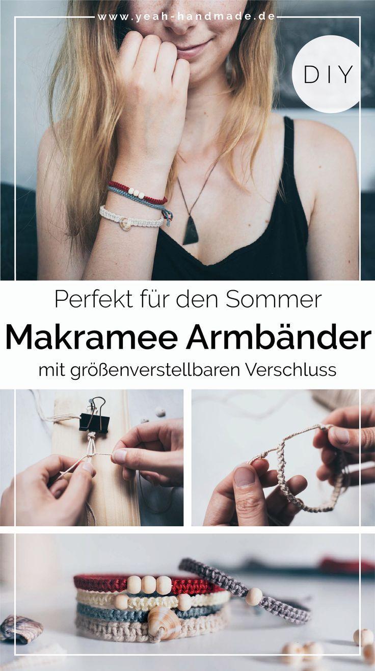 Photo of DIY Makramee Armband aus Kreuzknoten mit Muscheln und Perlen • Yeah Handmade