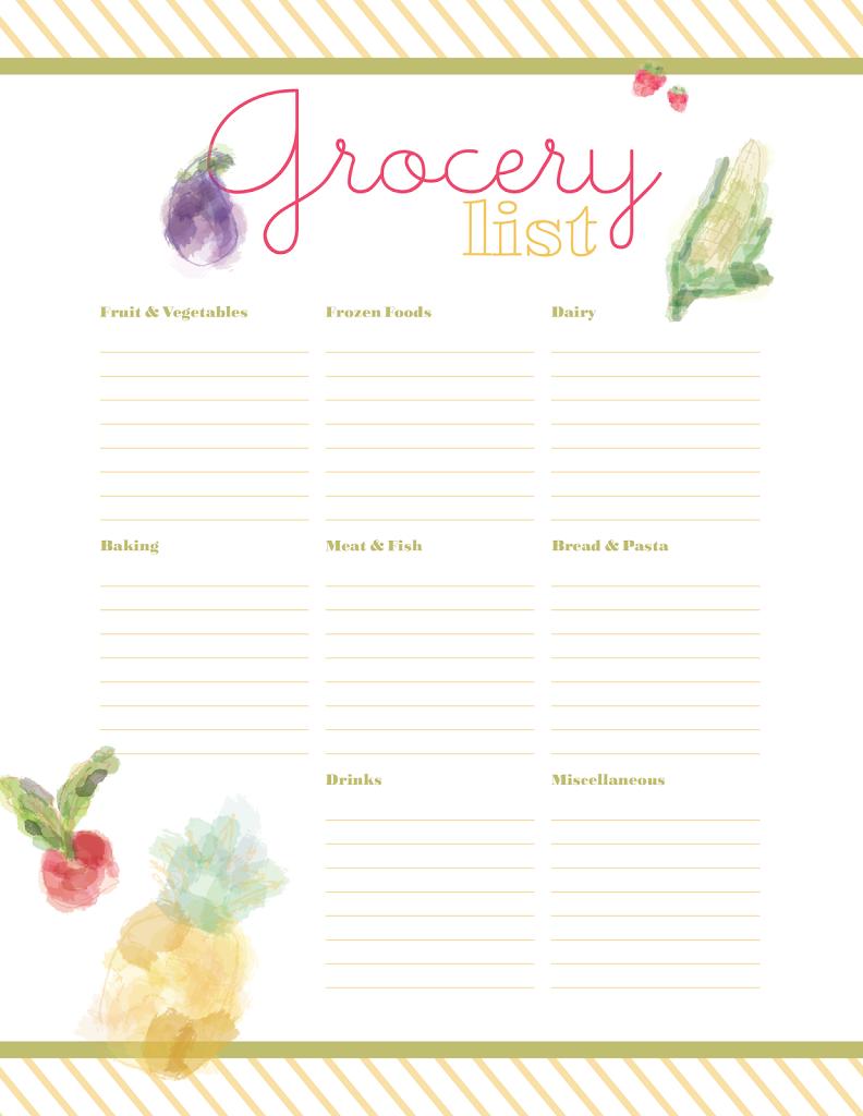 Printable Meal Planner - Designs By Miss Mandee