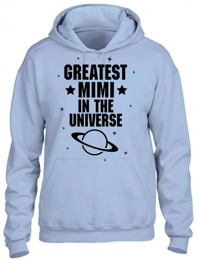 greatest mimi in the universe black print HOODIE