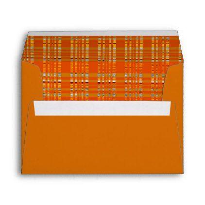 orange yellow brown autumn fall plaid any color envelope pinterest