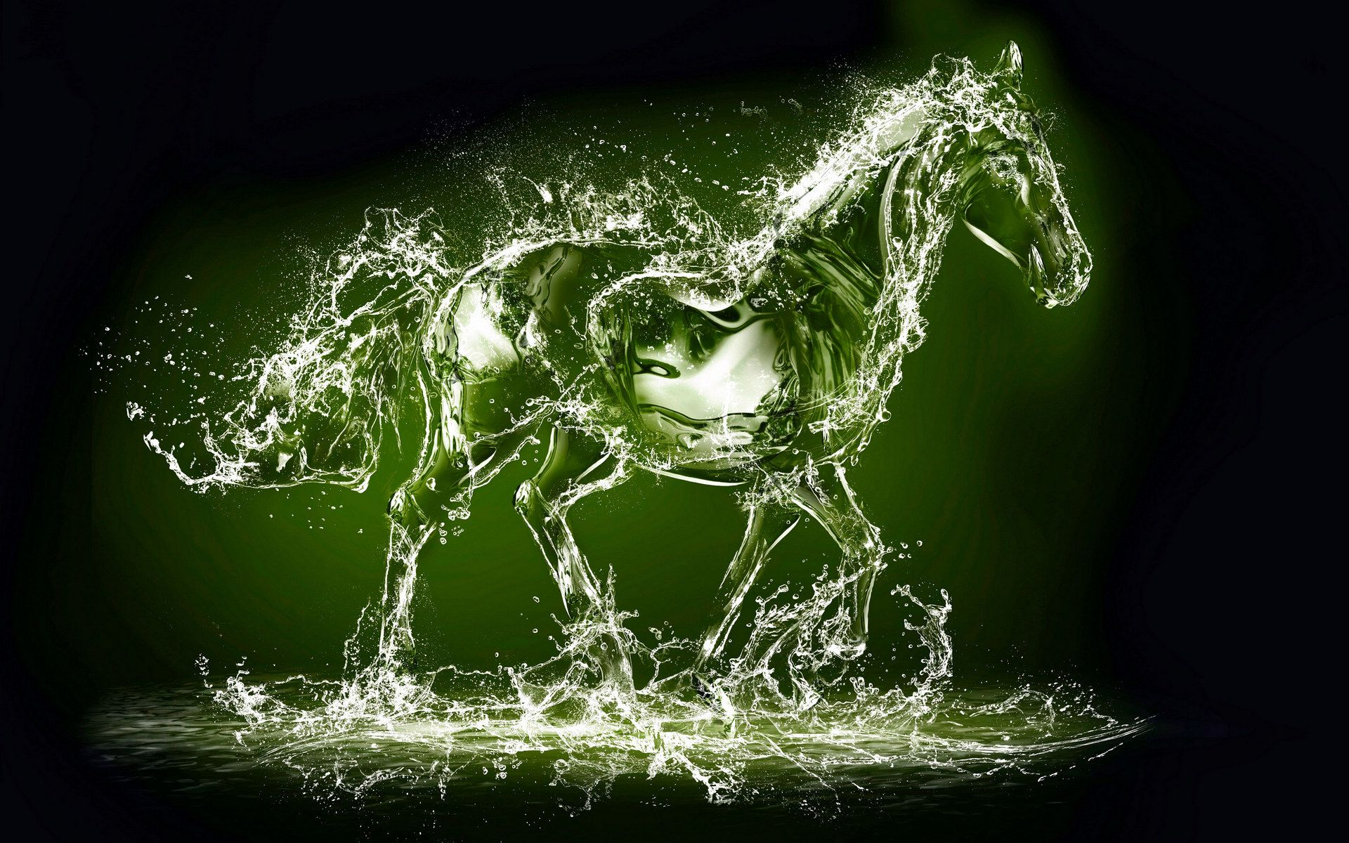Creative 3d Ma Gaoqing Wallpaper Wave High Definition Wallpaper Water Art Horse Wallpaper Art Wallpaper