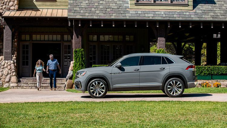 The new VW Atlas Cross Sport midsize SUV crossover with a