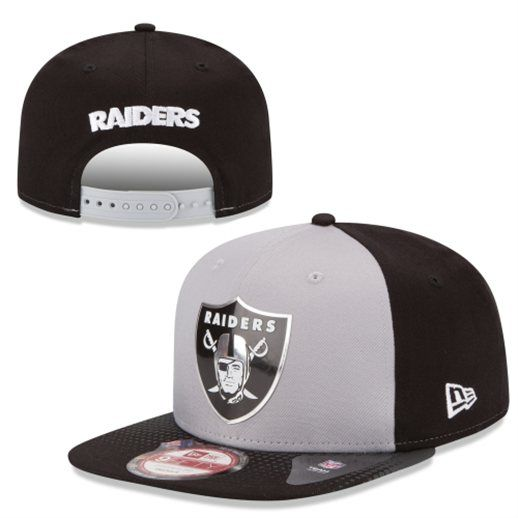 9a4a0a4feaa New Era Oakland Raiders Gray Black 2015 NFL Draft Original Fit 9FIFTY  Adjustable Hat