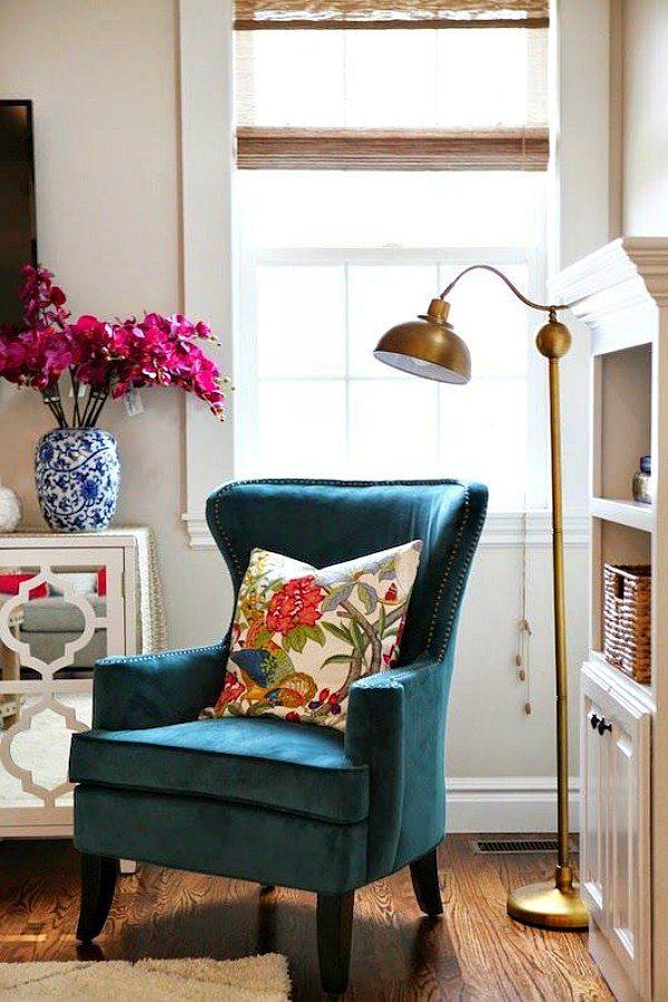 pávakék-fotel-2jpg (600×900) Indoor ideas Pinterest