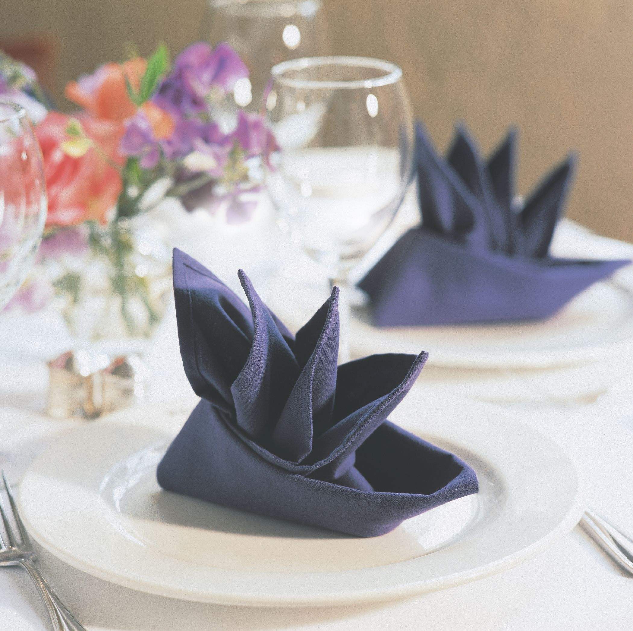 Linnen Servetten Vouwen Servetten Tafellinnen Cloth Napkin Folding Wedding Napkin