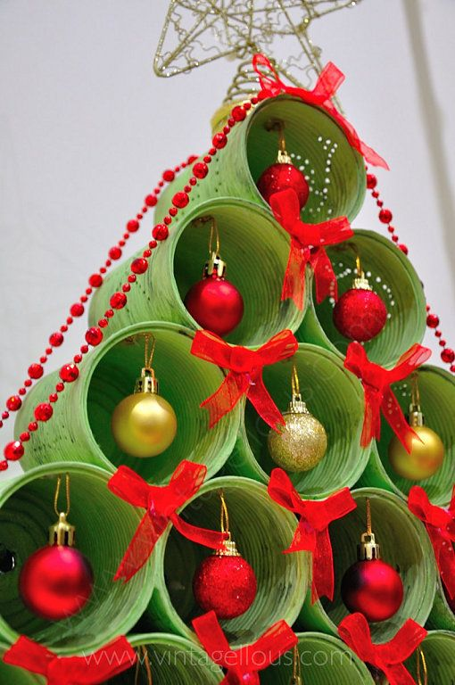 DIY: Árbol de Navidad con latas recicladas | Xmas crafts, Christmas decor  diy, Santa crafts