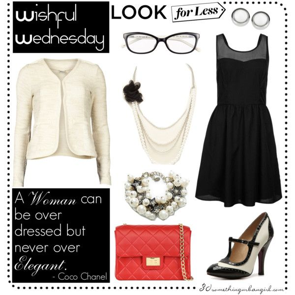 Wishful Wednesday, Look for Less - Chanel inspired by taggica on Polyvore #Chanel #chanel #inspired #LookForLess #blackandwhite #quotes #pearls