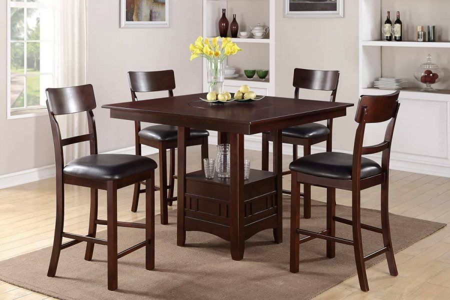 Modern Design In Bar Height Dining Table Set