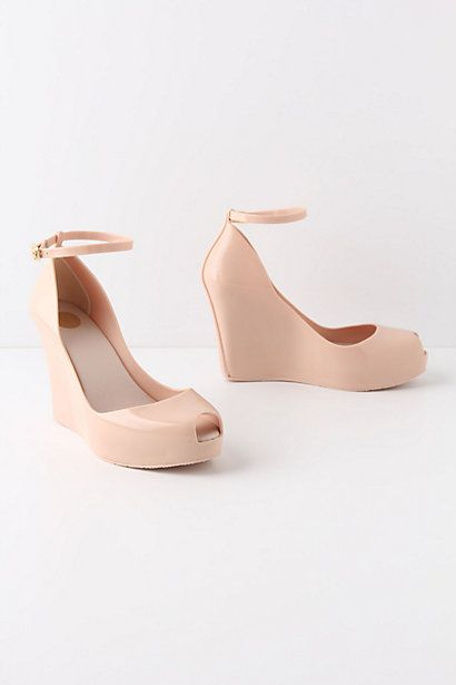 Coy Rain Wedges from Anthropologie. Perfect for a Spring wedding outside. No heels getting staked in the grass :)