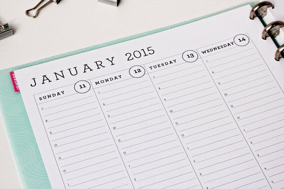 printable weekly planner with hourly layout 7am 8pm lined time slots