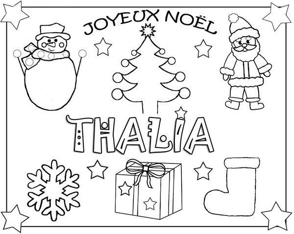 Coloriages De Noel Avec Prenom Coloriage Noel Coloriage Joyeux Noel Cartes De Noel A Imprimer