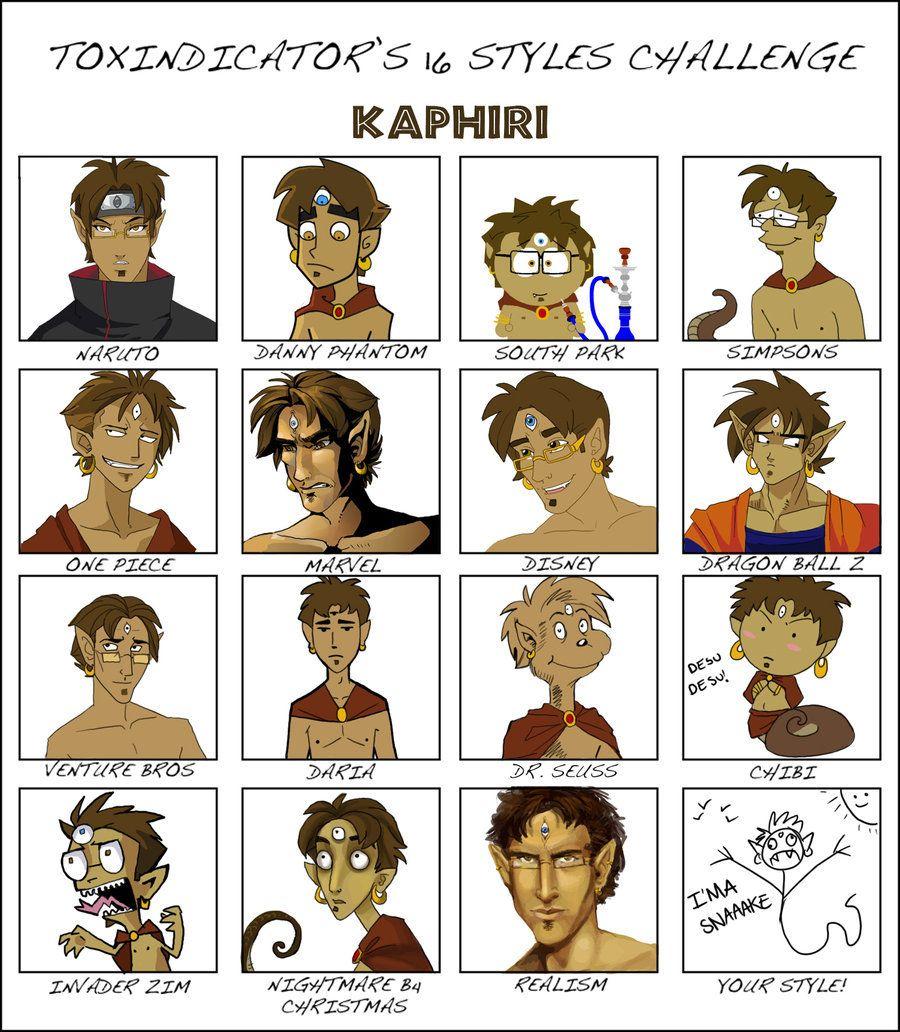 16 Styles Meme - Kaphiri by aureath