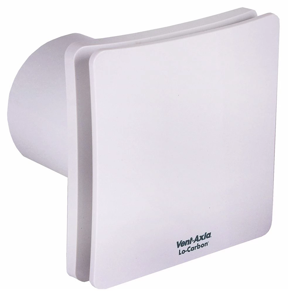 Vent Axia Lo Carbon Centra Selv Tp With Timer Pullcord 447128 Extractor Fans Utility Rooms Timer