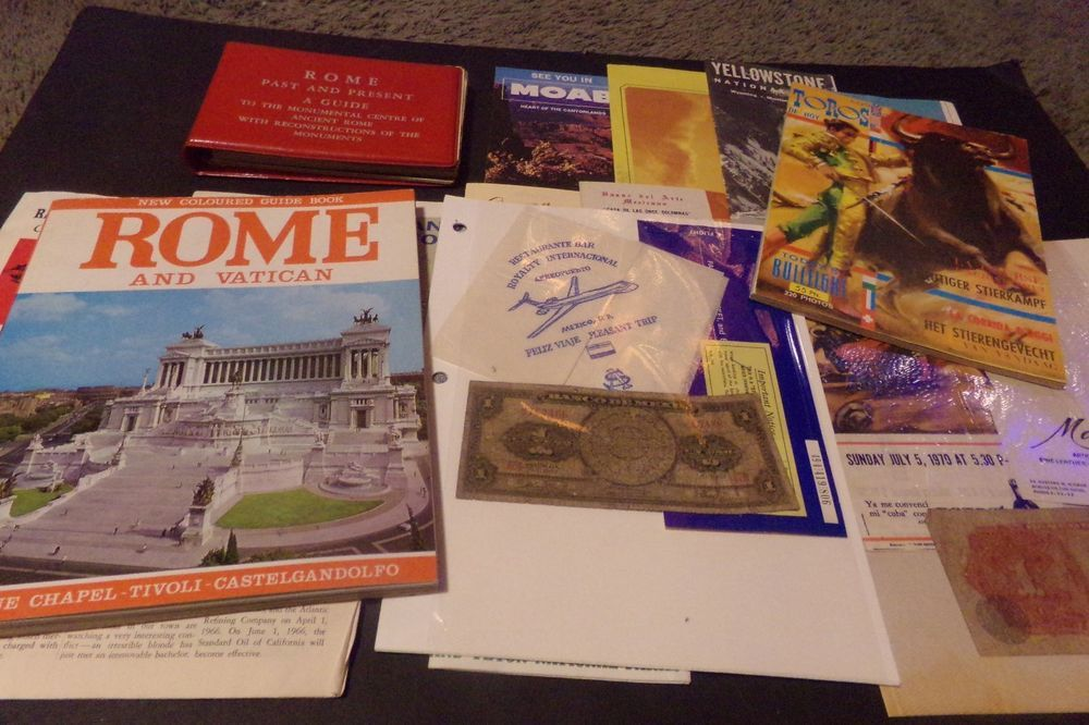 Washington Dc Popout Map%0A Lot    Vintage Travel Brochure Books Peso Map Rome Bull Fighting Yellowstone