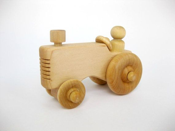 Wooden Toy Farm Tractor Natural Wood Toy Wooden Toy