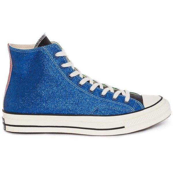 WOMENS BLUE GREEN GLITTER CHUCK TAYLOR CONVERSE ❤ liked on Polyvore  featuring shoes 0a59953b7