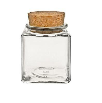 Korkenglas / Quadratisches Vorratsglas mit Korken 200 ml