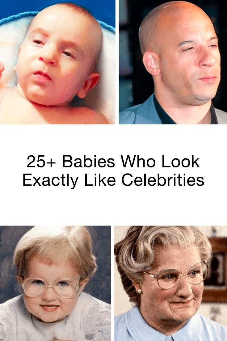 Latest Funny Babies  These hilarious babies look exactly like celebrities. Which one of them is the best?  #funny #babies #adorable #photography 11
