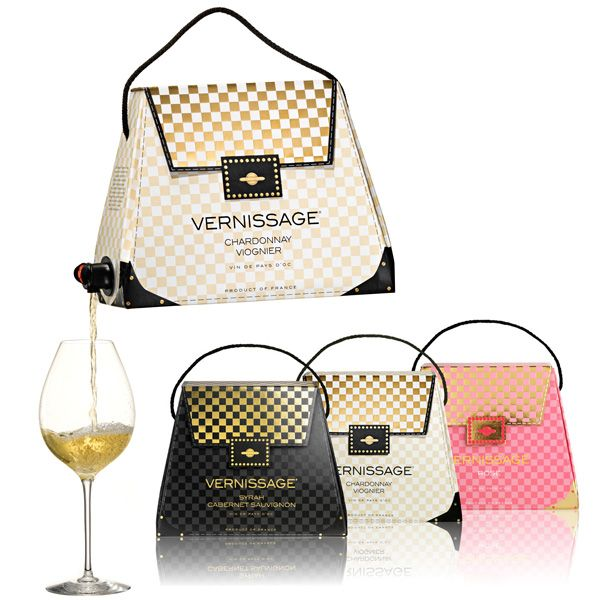 wine in a purse - and tastes good too! Great grab-bag gift idea ...