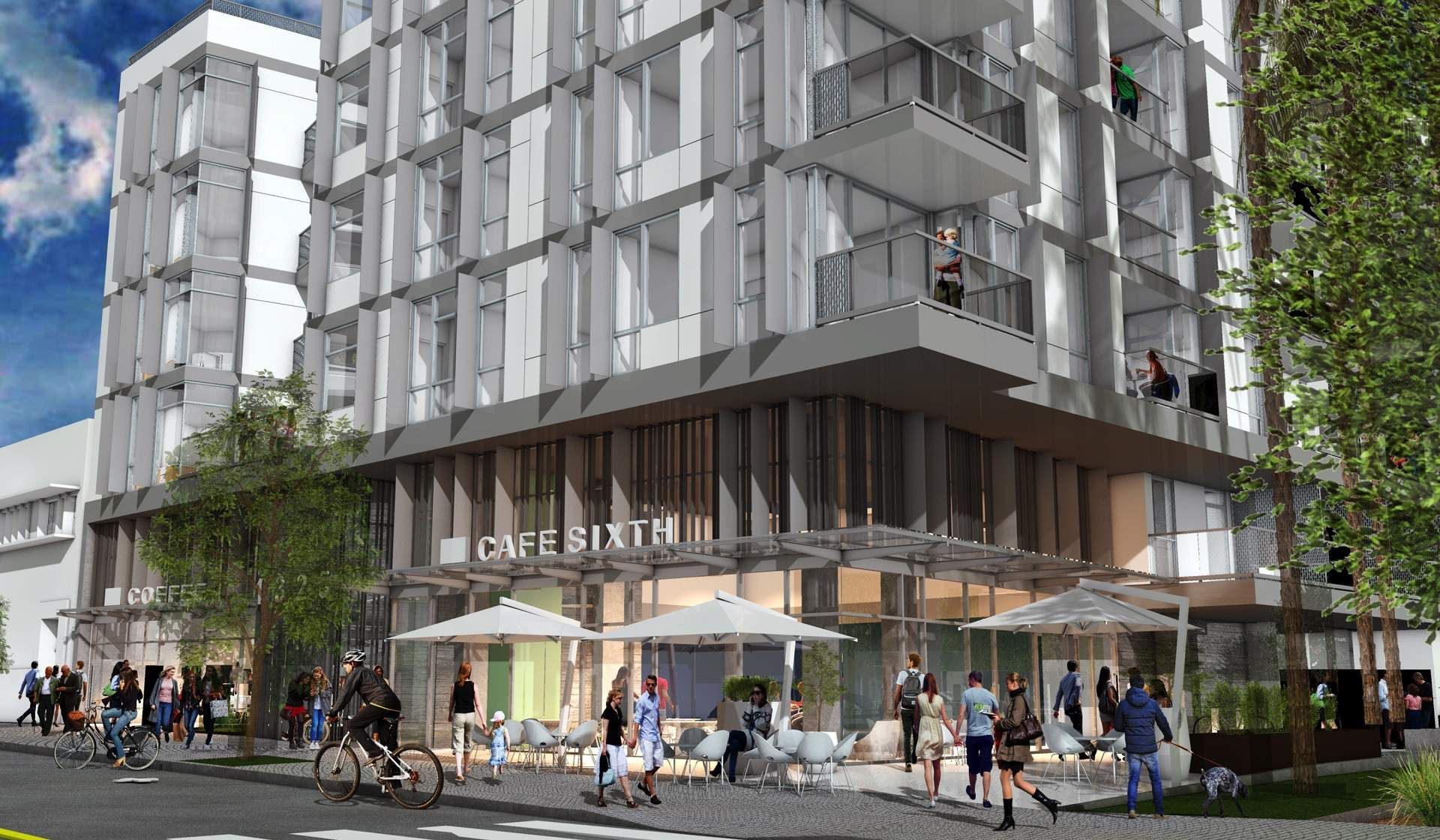 Revised Look For The Mixed Use Building Planned Next To The Santa Monica Library Urbanize La Santa Monica Mix Use Building Building