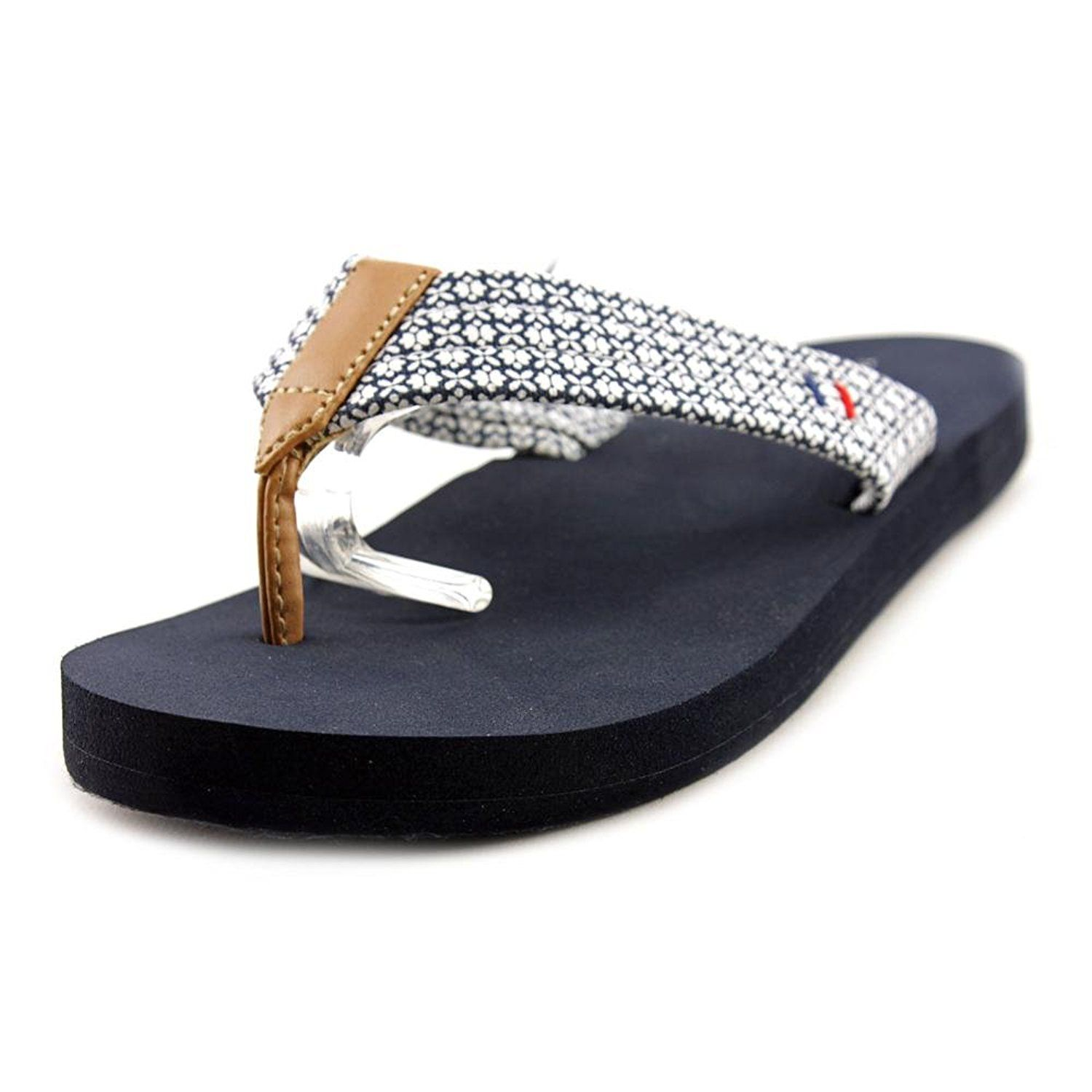ad9309cd2 Tommy Hilfiger Womens Caber fabric Open Toe Beach Flip Flop   Review more  details here   Flip flops