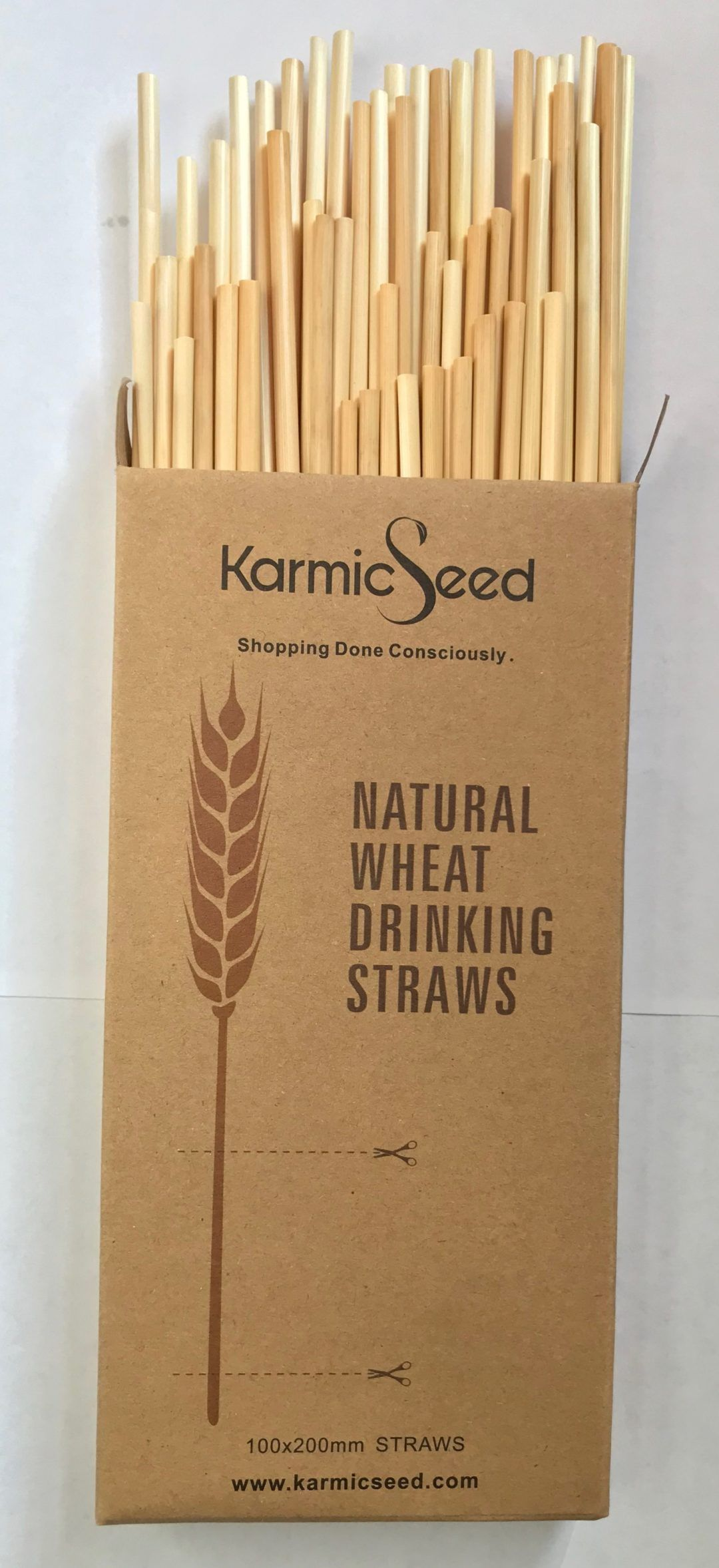100 Brown Paper Biodegradable Drinking Straws Environment Friendly Save Planet