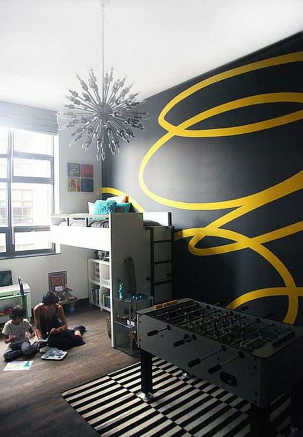 Tipps Für Wände Streichen   Kinderzimmer Schön Gestalten   62 Kreative Wände  Streichen Ideen U2013 Interessante Techniken (Super Cool Rooms)