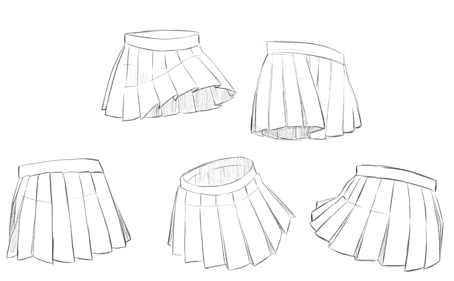 Anime Skirt Tutorial Steemit In 2020 Anime Skirts How To Draw Skirt Drawing Clothes