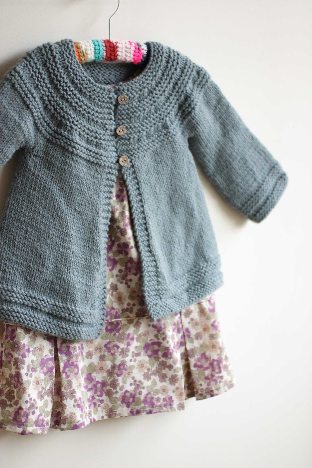 Knitting Top Down Patterns : Cardigans for little girls free pattern swings and