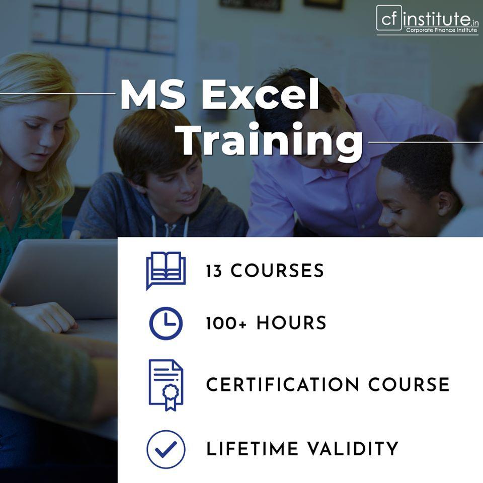 Cf institute provides the Advance Excel & VBA live classes