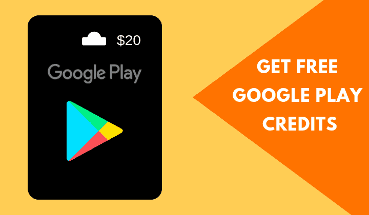 Legit Ways To Easily Earn Free Google Play Credits Google Play Gift Card Gift Card Giveaway Get Gift Cards