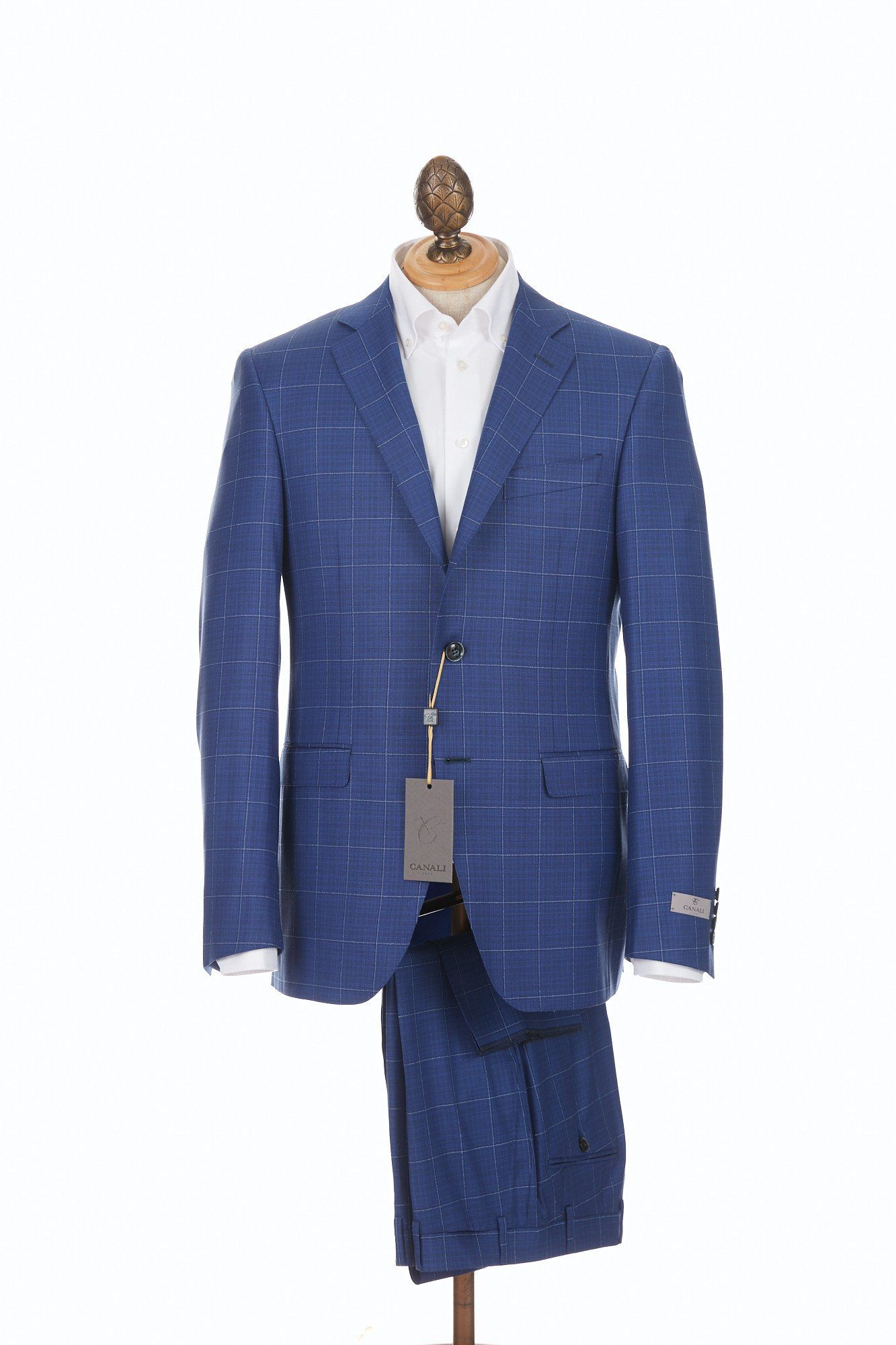 ec81c53db42081 Canali Blue & White Windowpane Suit | 2018 Work Clothes | Windowpane ...