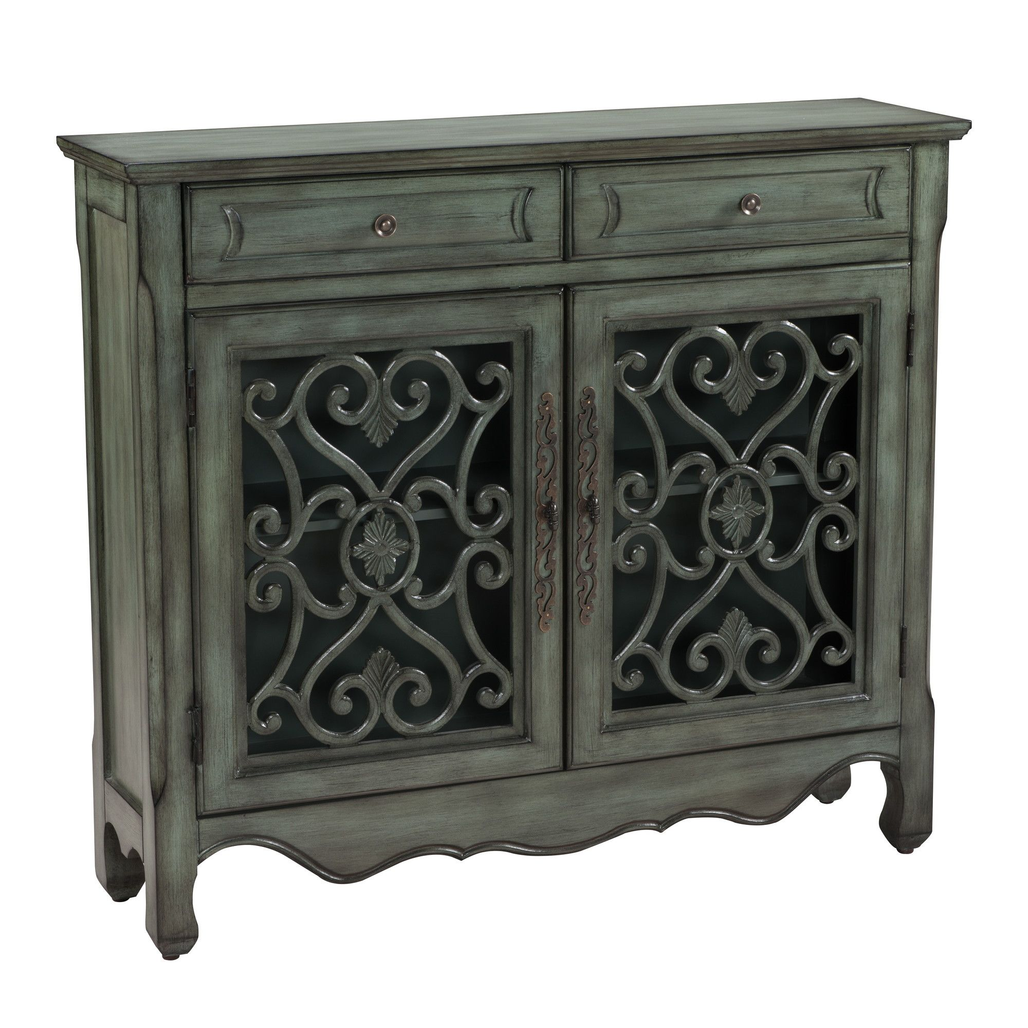 Coast To Imports Clic Charmer 2 Drawer Door Cabinet Reviews Wayfair