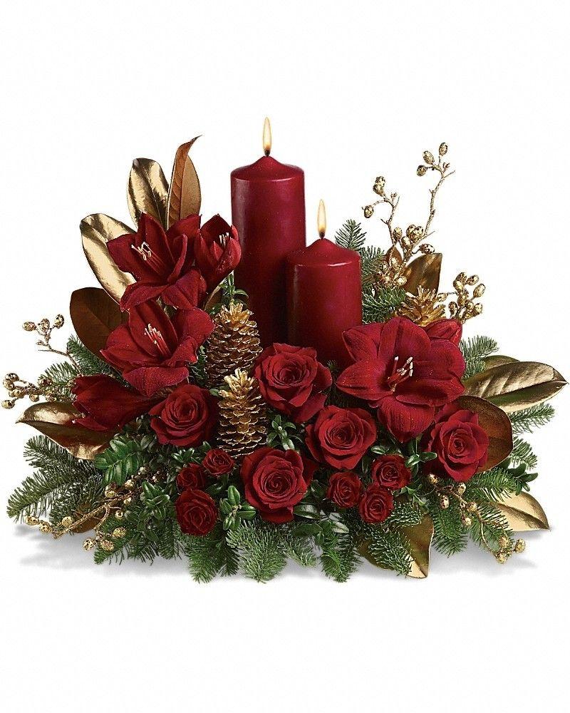 Candlelit Christmas Christmas flower arrangements