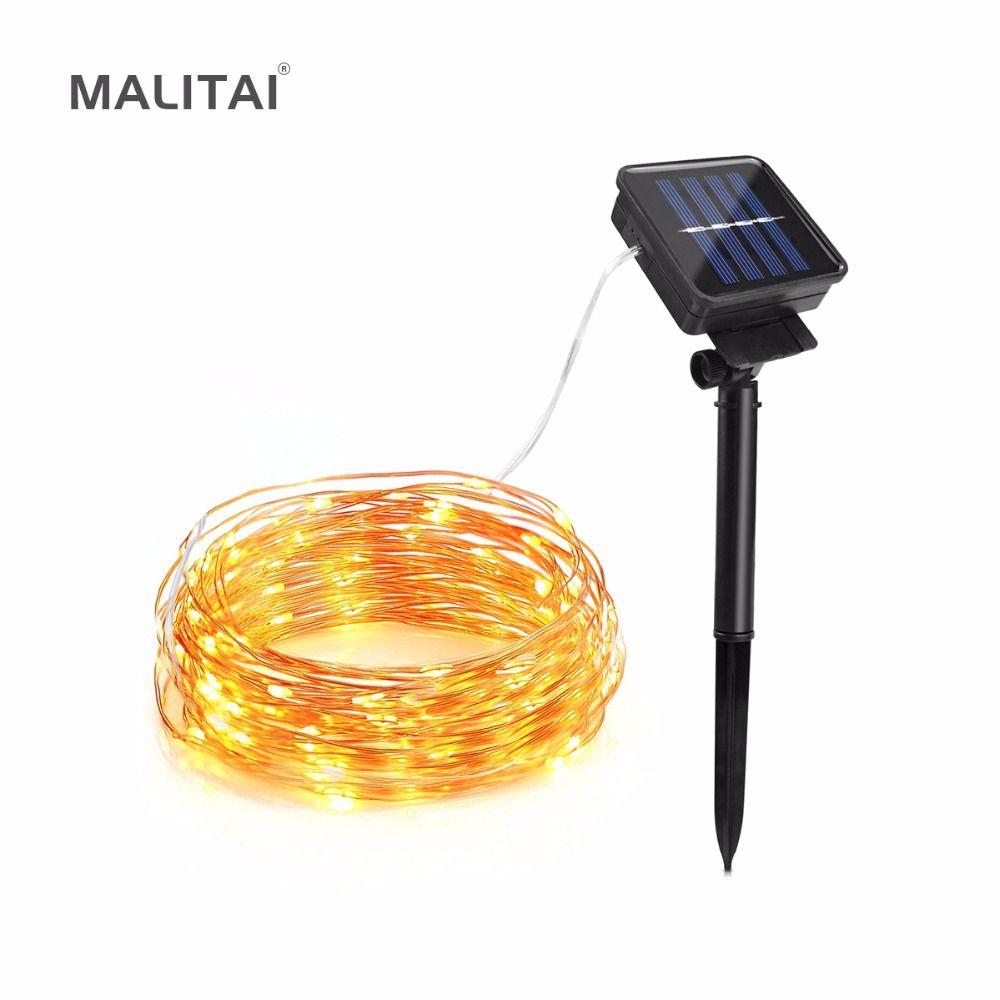 MALITAI LED Solar light Copper Wire Fairy LED String lamp 10M 20M ...