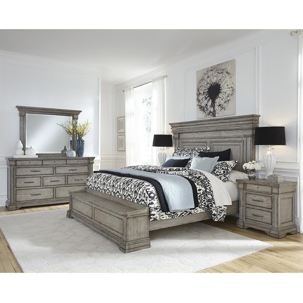 Chapel Hill Madison Ridge 4 Piece King Storage Bedroom Set In