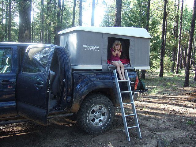 Could put a pop-up tent on a tonneau cover instead of a camper top, and still have the drawer system in the truck bed.